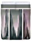Metropolis Rush Hour Triptych Duvet Cover