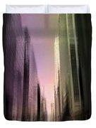 Metropolis Sunset Duvet Cover