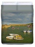 Mevagissey Outer Harbour Duvet Cover