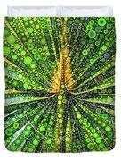 Mexican Fan Palm Leaf Duvet Cover