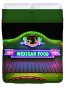 Mexican Food Duvet Cover