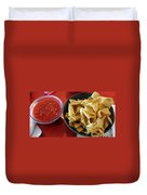 Mexican Inn Chips And Salsa Duvet Cover