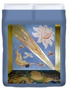 Mexican Mural Painting Duvet Cover