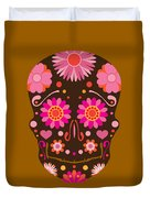 Mexican Skull Art Illustration Duvet Cover