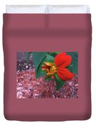 Mexican Sunflower In Mid Bloom Duvet Cover