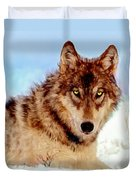 Mexican Wolf Painting Duvet Cover