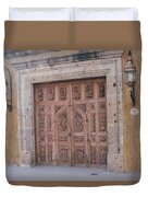 Mexico Door 1 By Tom Ray Duvet Cover