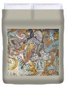 Mexico: Ixmiquilpan Fresco Duvet Cover