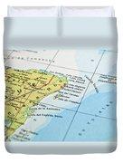 Mexico Map Duvet Cover