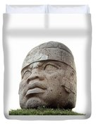 Mexico: Olmec Head Duvet Cover
