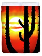 Mexico Sunset Duvet Cover by Michal Boubin