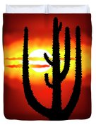 Mexico Sunset Duvet Cover