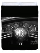 Mg Midget Dashboard Duvet Cover