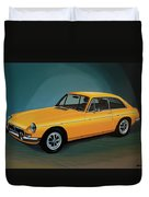 Mgb Gt 1966 Painting  Duvet Cover