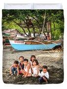 Mia-gao Fishing Children 1 Duvet Cover