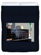 Miami Beach Hotel Key Slots Duvet Cover