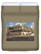 Miami Beach Synagogue Saturday Morning Duvet Cover