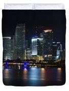 Miami Downtown Skyline Duvet Cover