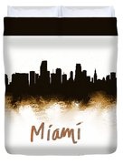 Miami Fla 2 Skyline Duvet Cover