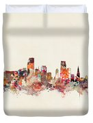 Miami Florida Skyline Duvet Cover