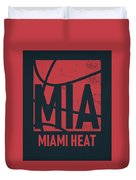 Miami Heat City Poster Art Duvet Cover
