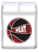 Miami Heat Retro Shirt Duvet Cover