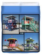 Miami Huts Duvet Cover