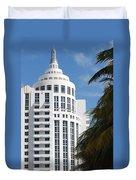 Miami S Capitol Building Duvet Cover