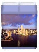 Miami Skyline 3 Duvet Cover