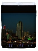 Miami Skyline Duvet Cover