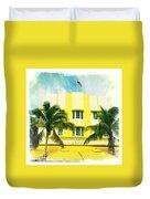 Miami South Beach Ocean Drive 2 Duvet Cover