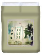 Miami South Beach Ocean Drive 3 Duvet Cover