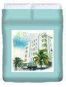 Miami South Beach Ocean Drive 4 Duvet Cover