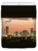 Miami Sunset Skyline Duvet Cover
