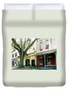 Micanopy Storefronts Duvet Cover