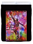 Michael Air Jordan Motivational Inspirational Independent Quotes 3 Duvet Cover