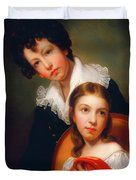 Michael Angelo And Emma Clara Peale Duvet Cover