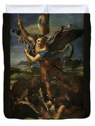 Michael Defeats Satan  Duvet Cover