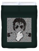 Michael Jackson Glove Montage Duvet Cover by Paul Van Scott