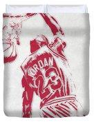 Michael Jordan Chicago Bulls Pixel Art 1 Duvet Cover