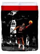 Michael Jordan Left Hand Duvet Cover