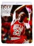 Michael Jordan Magical Dunk Duvet Cover