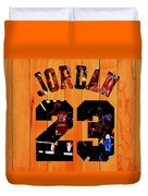 Michael Jordan Wood Art 1a Duvet Cover