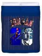 Michael Jordan Wood Art 2c Duvet Cover