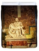 Michelangelo Masterpiece Of A Mother's Love Duvet Cover