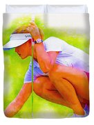 Michelle Wie Of Usa Lined Her Ball Duvet Cover