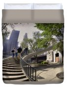 Michigan Avenue On The River Duvet Cover