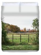 Michigan Farm And Fence  Duvet Cover