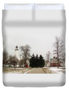 Michigan Lighthouse Duvet Cover