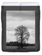 Michigan Lonley Tree  Duvet Cover